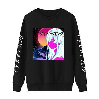 """Cyberwave"" Pullover Sweatshirt"