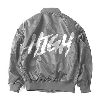 Gray High Flight Bomber Jacket
