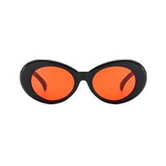 Black High Fashion Oval Shaped Goggle Glasses