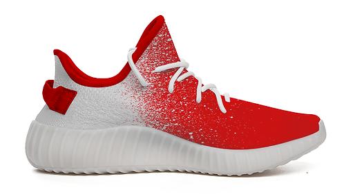 Kashi Sekai Red Paint Splattered Comfort Shoes