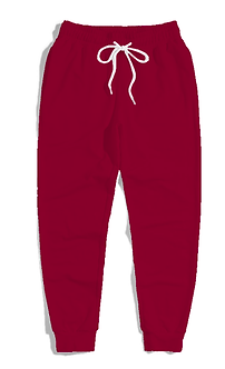 Solid Burgundy Colored Comfort Joggers