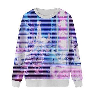 Vaporwave Sweatshirt Tokyo Lights