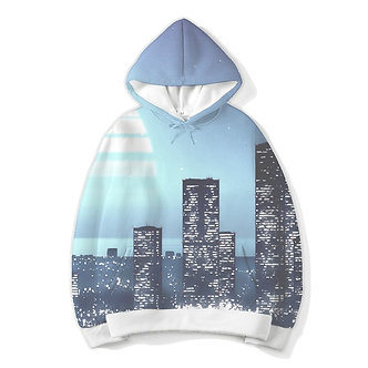 """""""Electric City"""" Allover Print Hoodie"""