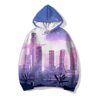 """""""City Limits"""" Allover Print Hoodie"""