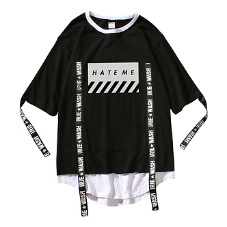 'Hate Me' Double Layer Fakie Shirt
