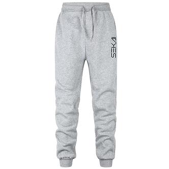 """Light Gray """"Sekai"""" Logo Comfort Joggers"""