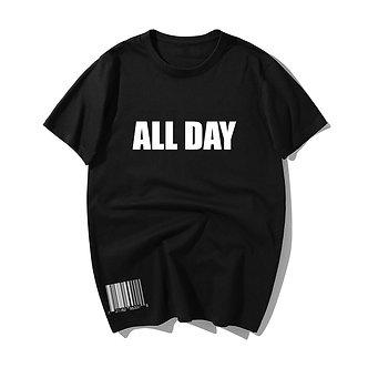 Black All Day Tee Shirt Trendy