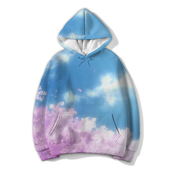 """Daylight Bloom"" Allover Print Hoodie"