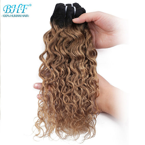 BHF Brazilian Hair Water Weave Curl 100% Remy Human Hair Bundles 50g