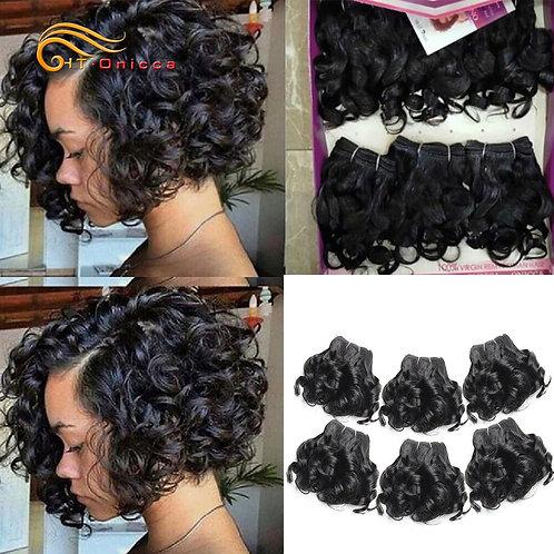 Brazilian Curly 100% Human Hair Weave Bundles / 6 Pcs