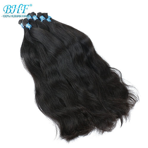 BHF 100% Human Braiding Hair Bulk Machine Made Remy Straight