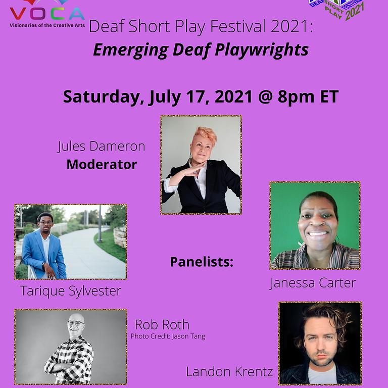 Emerging Deaf Playwrights