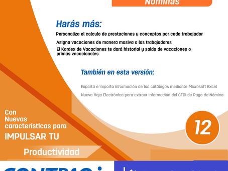 Liberación CONTPAQi® Nóminas 12.0.2 y Herramientas Complementarias 5.0.2