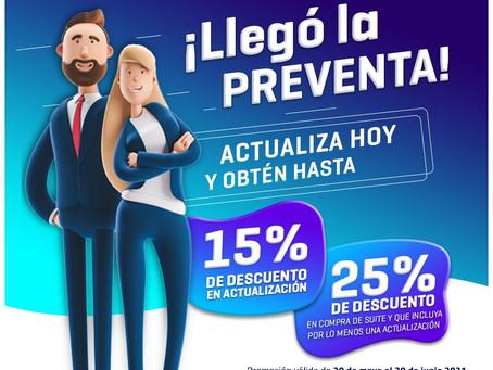 APROVECHA LA PREVENTA DE LICENCIAS TRADICIONALES CONTPAQi, HASTA 25% DE DESCUENTO EN SUITE