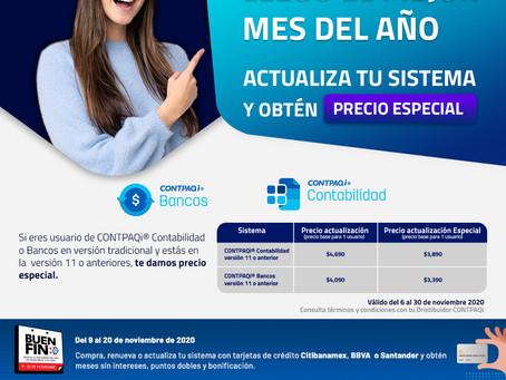 PRECIO DE ACTUALIZACION ESPECIAL EN CONTPAQi CONTABILIDAD Y CONTPAQi BANCOS, SOLO ESTE MES..