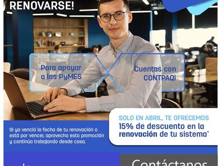 15% DE  DESCUENTO  EN  RENOVACIONES  CONTPAQi®