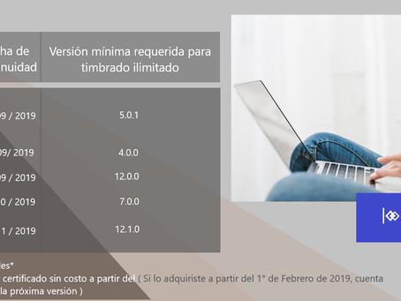 Continuidad de Timbrado Sistemas CONTPAQi® Factura Electrónica, AdminPAQ, Comercial Premium y Nómina