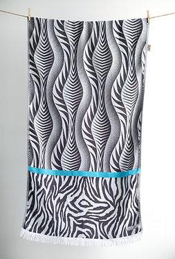 AELIA ANNA BEACH TOWEL - Turquoise