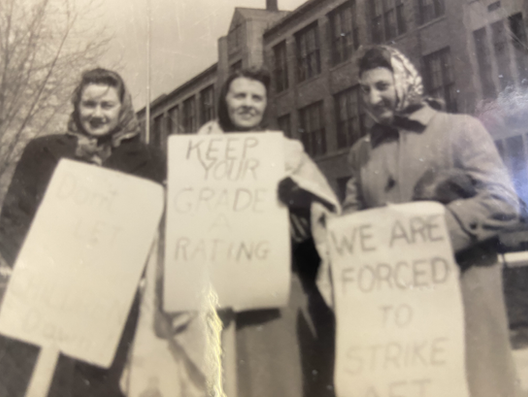 Picketing at East Detroit High School in 1947