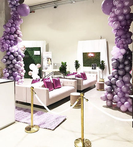 Cascading shades of purple balloons ✨✨ W