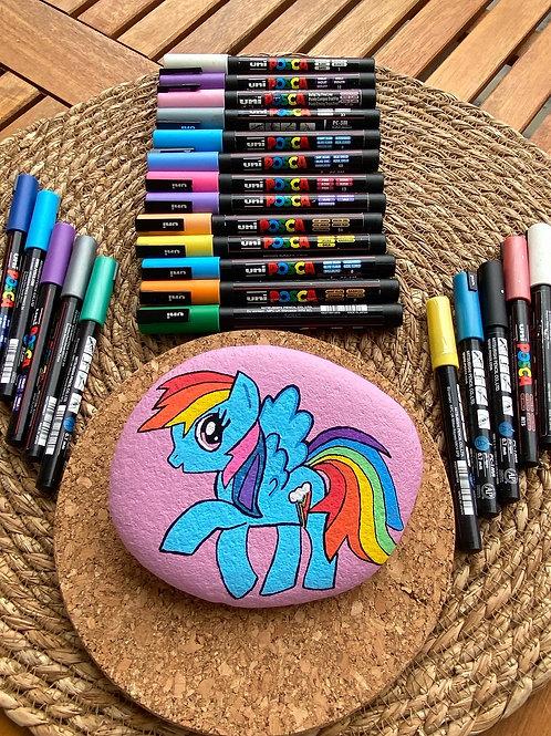Rainbow dash taş boyama