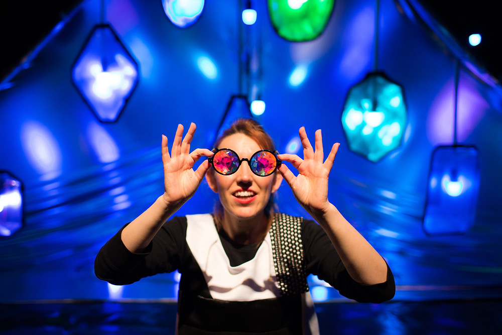 Filskit performed their interactive children's show Kaleidoscope at The Old Courts during Wigan Arts Festival in April 2019