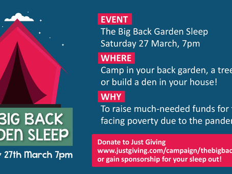 THE BRICK'S BIG BACK GARDEN SLEEP RETURNS FOR 2021!