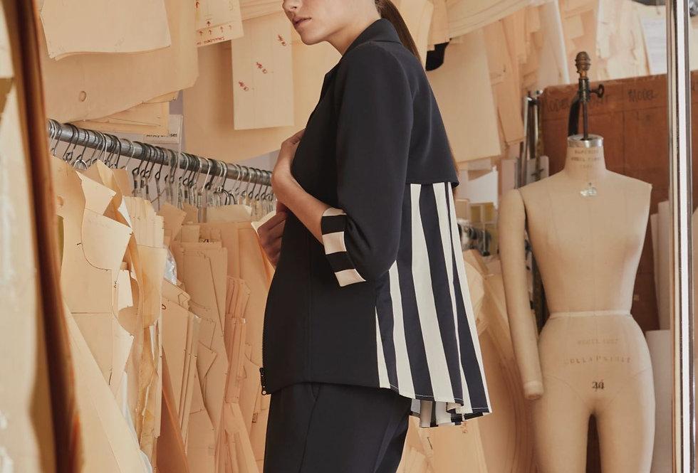 Bi-Stretch Jacket w/Tucked Stripe Back