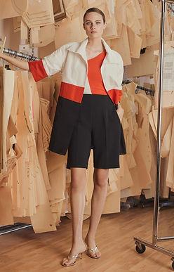 Radzimir Color Blocked 3/4 Length Jacket