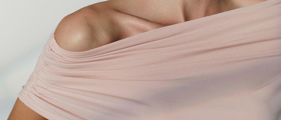 Soft Draped-Neck Top