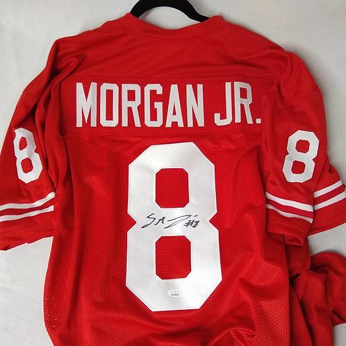 STANLEY MORGAN JR. Autographed Red Jersey JSA CERTIFIED