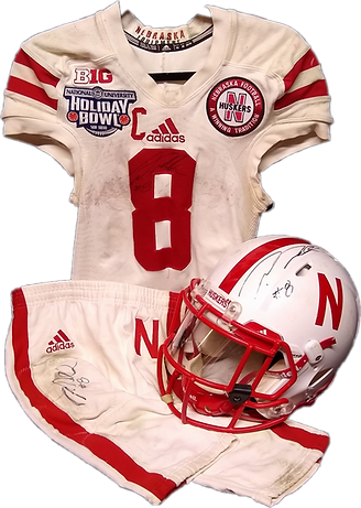 Ameer Abdullah game used Nebraska jersey