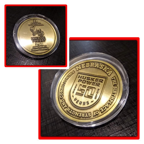 HUSKER POWER 50 YEARS 1969-2019 3 Inch COIN