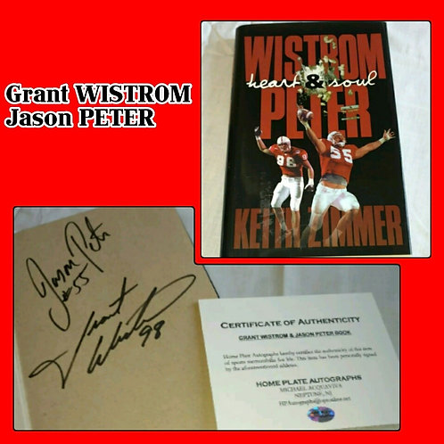 WISTROM & PETER Heart & Soul Signed Book!!! COA