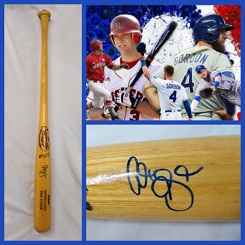 ALEX GORDON Game Used Broken Baseball Bat SIGNED AUTO Nebraska Huskers KC ROYALS
