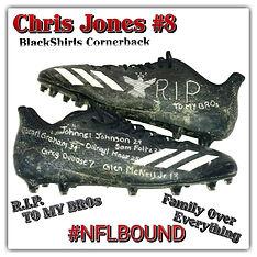 Nebraska Cornhuskers Chris Jones Game Used Cleats Tribute RIP Sam Foltz