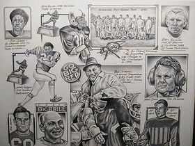 Original Nebraska Husker Art Joe Mcdermott