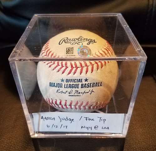 Yankees AARON JUDGE Official MLB Certified ROOKIE Foul Ball 6/12/17 NYY vs. LAA