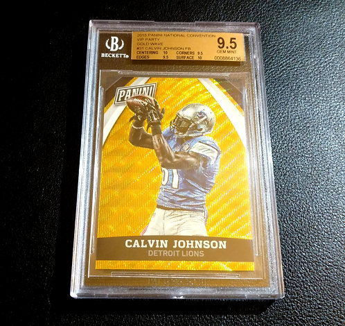 1/15 CALVIN JOHNSON JR 15 Panini Naional VIP Gold