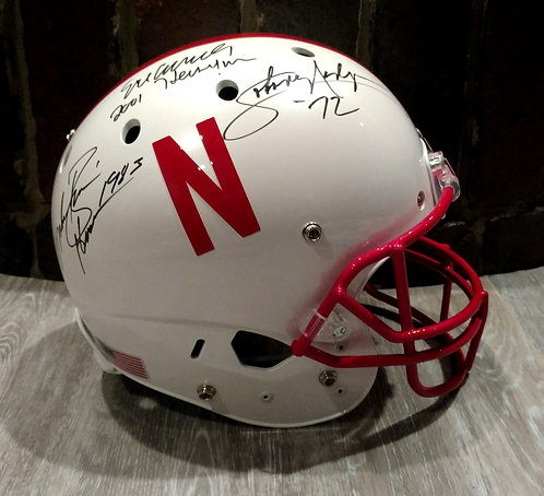 Cornhusker Heismans Signed F/S Helmet Johnny Rodgers, Mike Rozier, Eric Crouch