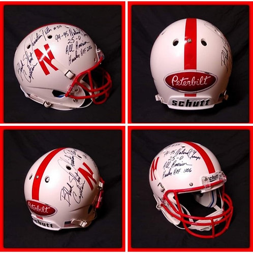 CHRISTIAN PETER Signed  Inscribed FULL SIZE Nebraska Helmet PETERBILT 1 of 5