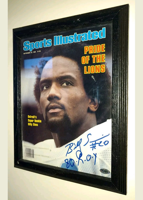 Billy Simms Signed 1980 Sports Illustrated ROY