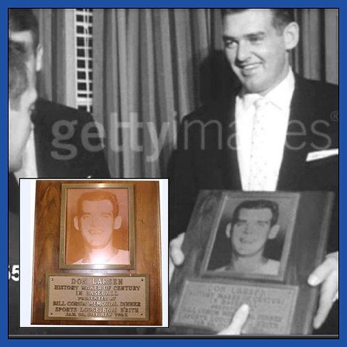 1956 WS Perfect Game DON LARSEN Personal Award