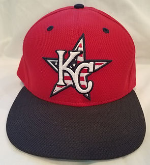 Nebraska Cornhuskers Kansas City Royals Alex Gordon Game Used Hat 2013 4th of July