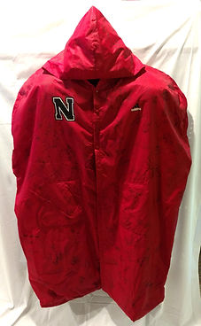 1990's Nebraska Cornhuskers Game Used Signed Football Sideline Jacket
