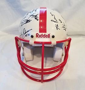 1995 Nebraska Cornhuskers Team Signed Football Helmet National Champs