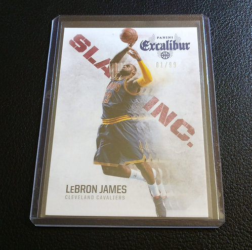 1/99 LeBRON JAMES 14-15 Panini Excalibur Slam Inc.