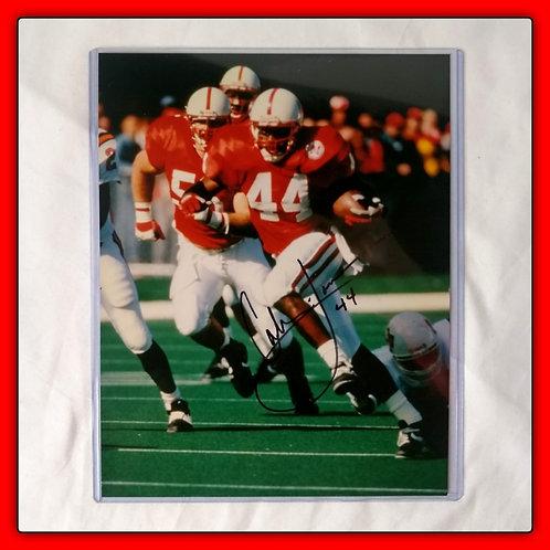 CALVIN JONES #44 Signed Nebraska 8x10