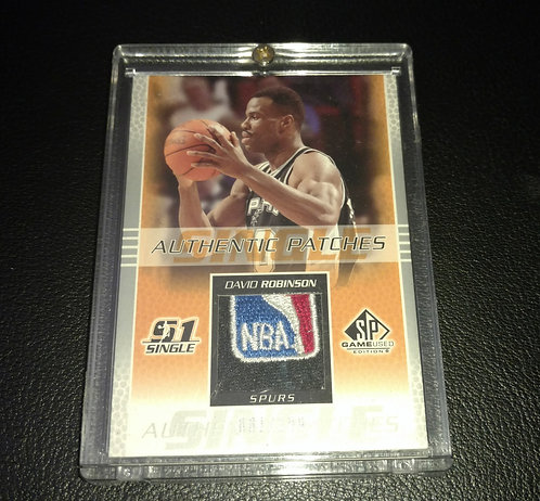 1/100 DAVID ROBINSON 03 UD SP GAME USED NBA PATCH