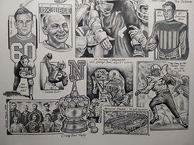 Nebraska Football Original Art Joe Mcdermott